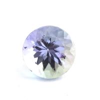 Фиолетово-синий танзанит круг, вес 0.98 карат, размер 6х6мм (tanz0269)