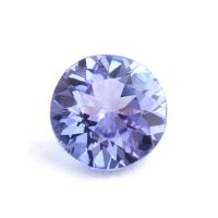 Фиолетово-синий танзанит круг, вес 0.73 карат, размер 5.8х5.8мм (tanz0274)