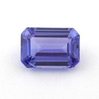 Фиолетово-синий танзанит октагон, вес 1.55 карат, размер 8х5.5мм (tanz0290)