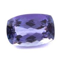 Фиолетово-синий танзанит антик, вес 4.44 карат, размер 11.6х7.8мм (tanz0292)