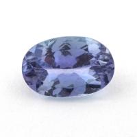 Фиолетово-синий танзанит овал, вес 1.44 карат, размер 9.1х6мм (tanz0295)