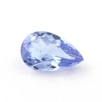 Бледно-синий танзанит груша, вес 0.97 карат, размер 8.4х5.3мм (tanz0298)