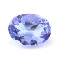 Фиолетово-синий танзанит овал, вес 1.5 карат, размер 8.9х6.7мм (tanz0302)