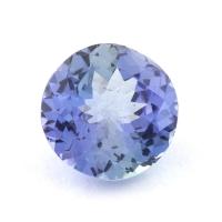 Зеленовато-синий танзанит круг, вес 1.55 карат, размер 7.6х7.6мм (tanz0303)
