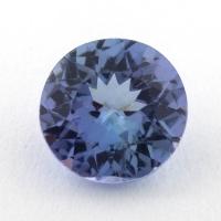 Светло-синий танзанит круг, вес 1.11 карат, размер 6.6х6.5мм (tanz0320)