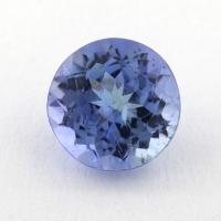 Светло-синий танзанит круг, вес 0.9 карат, размер 5.9х5.9мм (tanz0321)