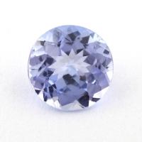 Бледный фиолетово-синий танзанит круг, вес 0.77 карат, размер 6х6мм (tanz0322)