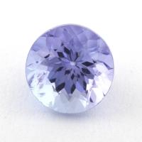 Светлый фиолетово-синий танзанит круг, вес 1.16 карат, размер 6.1х6.1мм (tanz0323)
