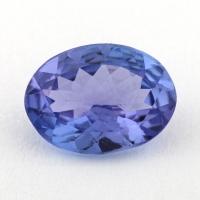 Фиолетово-синий танзанит овал, вес 0.97 карат, размер 8х5.9мм (tanz0328)