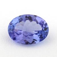 Фиолетово-синий танзанит овал, вес 0.91 карат, размер 7.5х5.7мм (tanz0329)