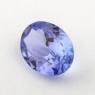 Фиолетово-синий танзанит овал, вес 0.78 карат, размер 7.5х5.5мм (tanz0332)