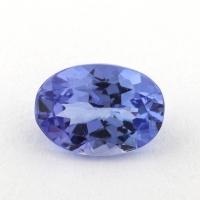 Фиолетово-синий танзанит овал, вес 0.77 карат, размер 6.9х4.8мм (tanz0333)