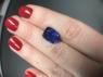 Яркий фиолетово-синий танзанит антик, вес 4.83 карат, размер 11.8х9.4мм (tanz0336)
