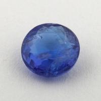 Ярко-синий танзанит круг, вес 1.06 карат, размер 6.5х6.5мм (tanz0346)