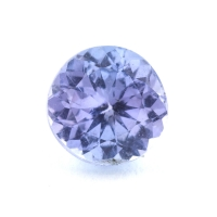 Бледно-фиолетовый танзанит круг, вес 0.67 карат, размер 5.5х5.5мм (tanz0365)