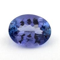 Фиолетово-синий танзанит овал, вес 1.6 карат, размер 8.6х6.6мм (tanz0373)