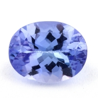Светлый фиолетово-синий танзанит овал, вес 2.48 карат, размер 10.1х8мм (tanz0375)