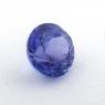 Фиолетово-синий танзанит круг, вес 0.89 карат, размер 5.7х5.7мм (tanz0398)