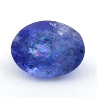Яркий фиолетово-синий танзанит овал, вес 1.79 карат, размер 8.8х6.8мм (tanz0402)