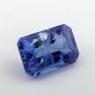 Яркий фиолетово-синий танзанит октагон, вес 1.28 карат, размер 7.2х5мм (tanz0404)