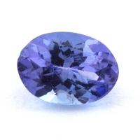 Фиолетово-синий танзанит овал, вес 0.86 карат, размер 7.1х5.1мм (tanz0414)