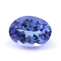 Фиолетово-синий танзанит овал, вес 0.85 карат, размер 6.9х5мм (tanz0415)