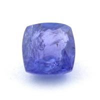 Яркий фиолетово-синий танзанит антик, вес 1.68 карат, размер 6.7х6.6мм (tanz0424)