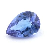 Яркий фиолетово-синий танзанит груша, вес 0.78 карат, размер 7.4х5.2мм (tanz0426)
