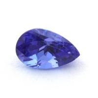 Яркий фиолетово-синий танзанит груша, вес 0.6 карат, размер 6.6х4.2мм (tanz0427)