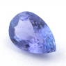 Яркий фиолетово-синий танзанит груша, вес 1.08 карат, размер 8.7х5.6мм (tanz0428)