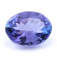 Фиолетово-синий танзанит овал, вес 1.28 карат, размер 8.1х6.1мм (tanz0430)