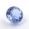 Фиолетово-синий танзанит круг, вес 0.96 карат, размер 6х6мм (tanz0432)