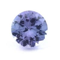 Фиолетово-синий танзанит круг, вес 0.87 карат, размер 6.2х6.1мм (tanz0433)