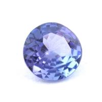 Фиолетово-синий танзанит круг, вес 0.62 карат, размер 5.9х5.8мм (tanz0434)