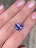 Фиолетово-синий танзанит сердце, вес 7.4 карат, размер 12.7х11.5мм (tanz0436)