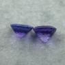 Пара ярких фиолетово-синих танзанитов формы антик общим весом 3.85 карат, размер 7.5х7.5мм (tanz0452)