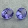 Пара светлых фиолетово-синих танзанитов формы овал общим весом 5.34 карат, размер 10х8мм (tanz0455)