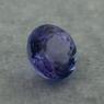Фиолетово-синий танзанит круг, вес 1.27 карат, размер 6.4х6.3мм (tanz0468)