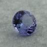 Фиолетово-синий танзанит круг, вес 0.92 карат, размер 6.2х6.2мм (tanz0470)