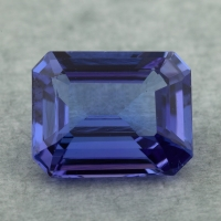 Фиолетово-синий танзанит октагон, вес 4.58 карат, размер 11.2х9мм (tanz0474)