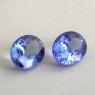 Пара ярких фиолетово-синих танзанитов отличной российской огранки формы овал общим весом 4.05 карат, размер 9.4х7.4мм (tanz0479)