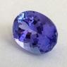 Яркий фиолетово-синий танзанит отличной российской огранки формы овал, вес 8.25 карат, размер 14.5х10.6мм (tanz0480)