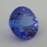 Ярко-синий танзанит формы круг, вес 6.24 карат, размер 10.8х10.8мм (tanz0483)