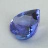 Фиолетово-синий танзанит формы сердце, вес 3.68 карат, размер 11х10.5мм (tanz0494)