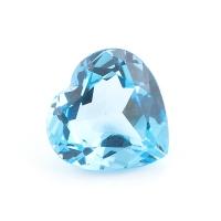 Топаз голубой сердце размер 10х10мм