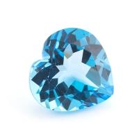 Топаз голубой сердце размер 11х11мм