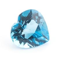 Топаз голубой сердце размер 12х12мм