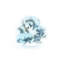 Топаз бледно-голубой сердце размер 9х9мм