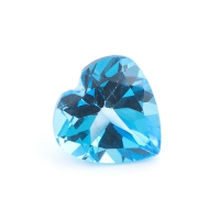 Топаз ярко-голубой сердце размер 9х9мм