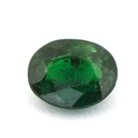 Ярко-зелёный гранат цаворит формы овал, вес 0.76 карат, размер 6.3х5мм (tsav0020)